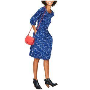 BODEN Talia Dress Lapis Floral Sky Soft Jersey 10